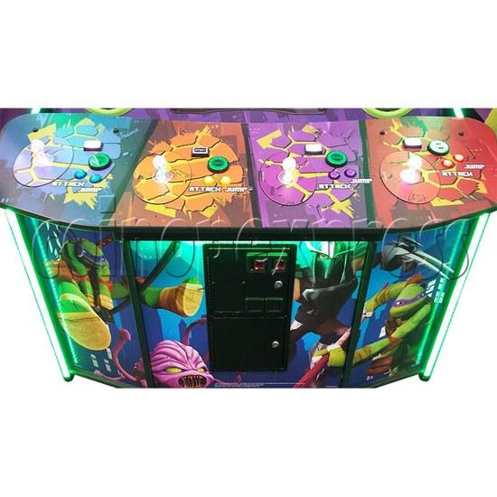 Teenage Mutant Ninja Turtles Arcade Machine 4 Player - control panel