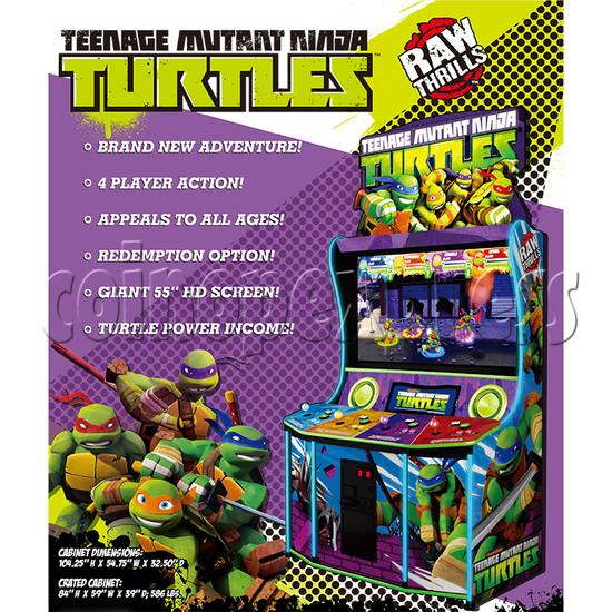 Teenage Mutant Ninja Turtles Arcade Machine 4 Player - catalogue