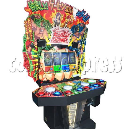 Bishi Bashi Channel Arcade Machine - left view 2