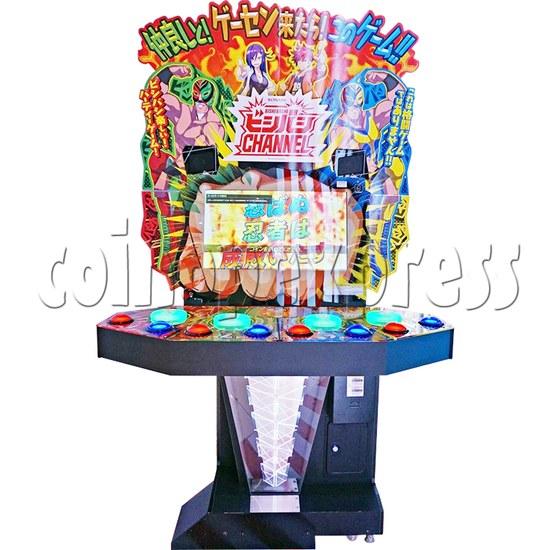 Bishi Bashi Channel Arcade Machine - front view