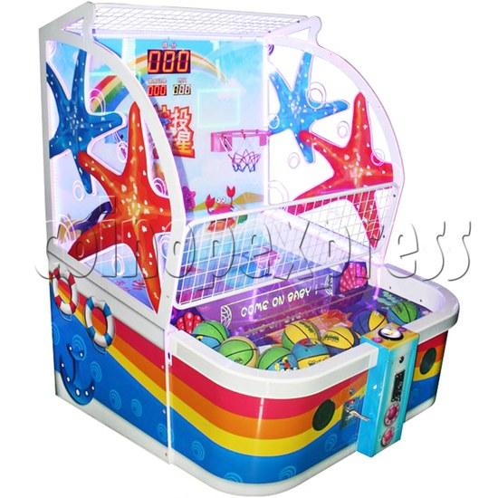 Sharpshooter Gemini Basketball Ticket Redemption Arcade Machine - left view
