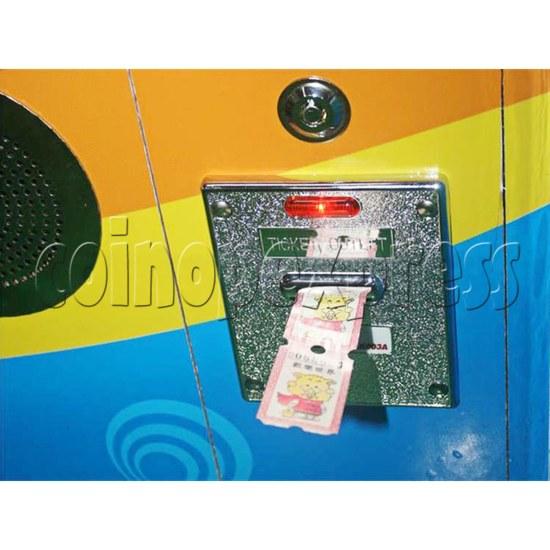 Sharpshooter Gemini Basketball Ticket Redemption Arcade Machine - ticket exit