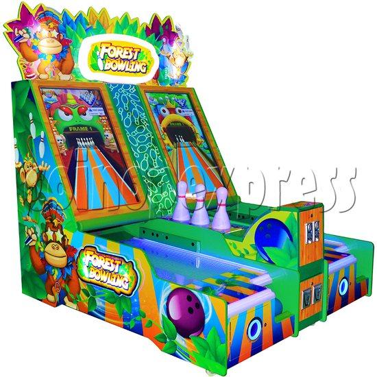Forest Bowling Ticket Redemption Arcade Machine - left view