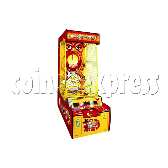Hungry Dog I Ticket Redemption Arcade Machine - left view