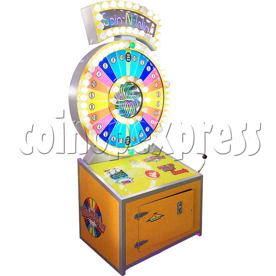Spin N Win Giant Ticket Redemption Machine - left view