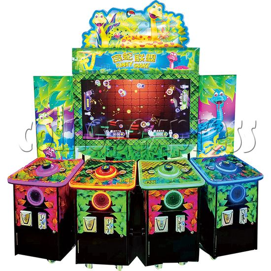 Funky Snake Ticket Redemption Arcade Machine 4 Players - front view