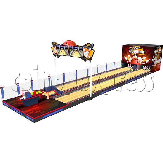 Speed Bowling Arcade Machine 8.6M - angle view