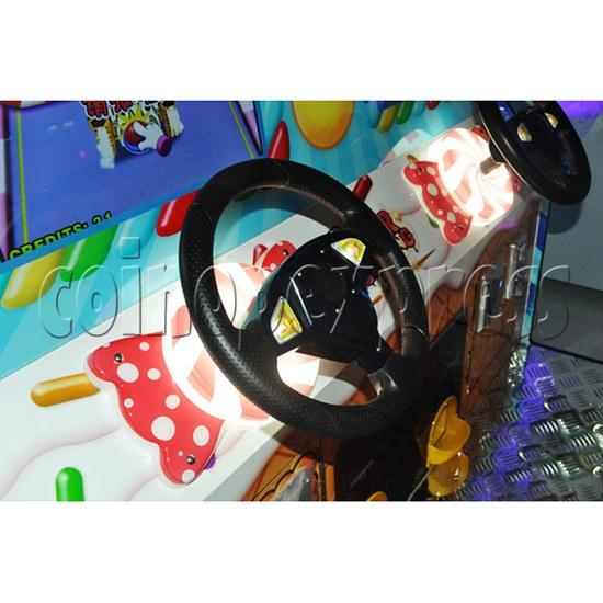 Sugar Racing Video Driving Game 2 Players - steering wheel