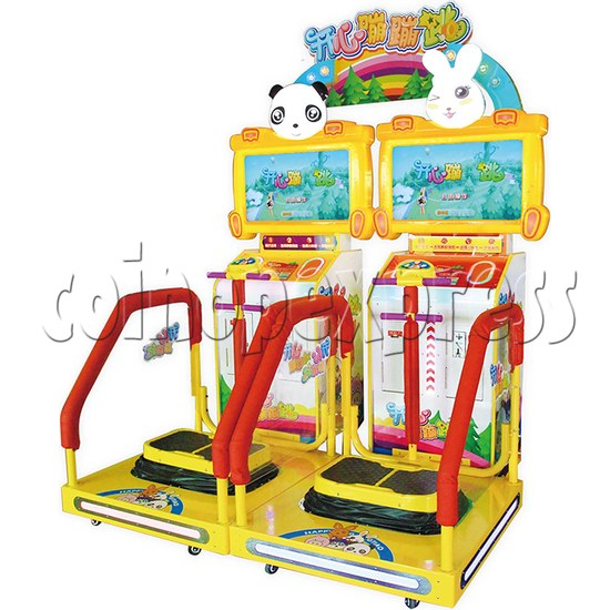 Happy Hopping Jumping Sport Game Machine - angle view