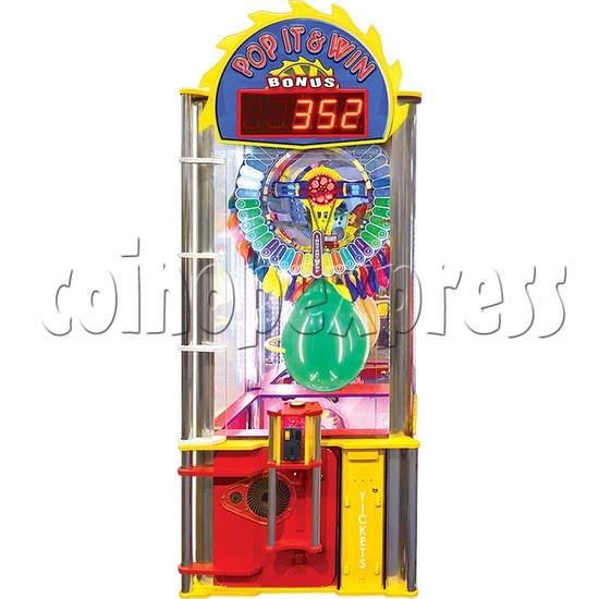 Pop It And Win Ticket Redemption Arcade Machine - front view 1
