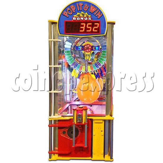 Pop It And Win Ticket Redemption Arcade Machine - front view 2