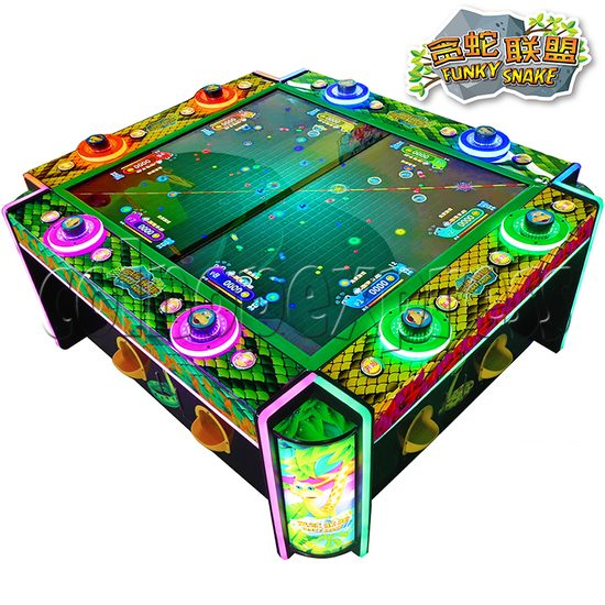 Funky Snake Ticket Redemption Arcade Machine 8 Players - angle view