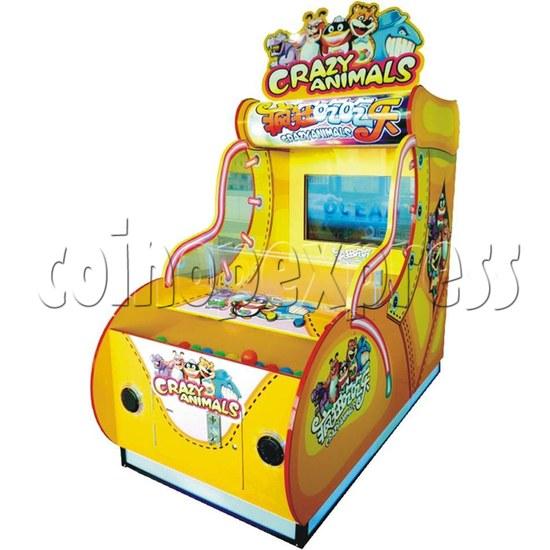 Crazy Animals ball game machine 37 inch monitor - angle view