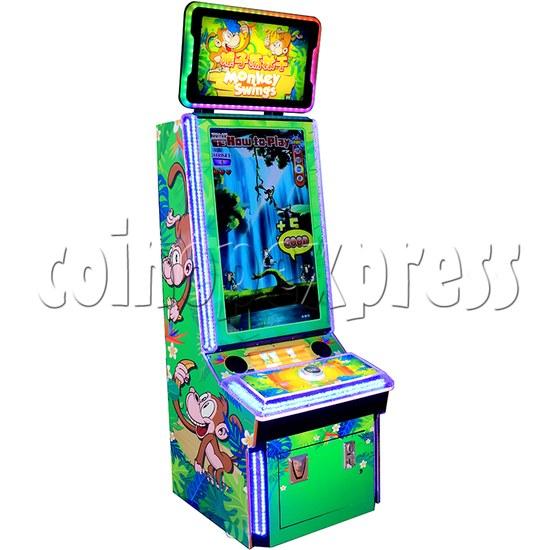 Monkey Swings Ticket Redemption Arcade Machine - left view