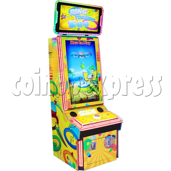 Ring Tossing Ticket Redemption Arcade Machine - left view