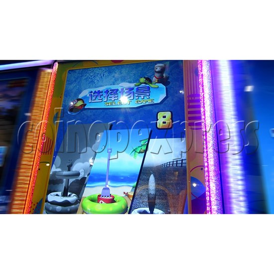 Ring Tossing Ticket Redemption Arcade Machine - game scenes