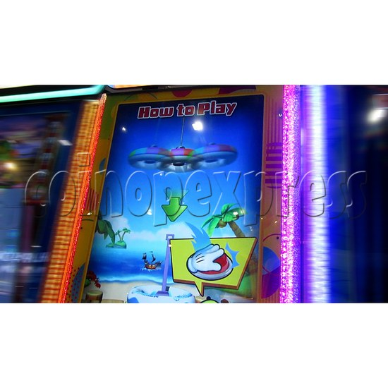 Ring Tossing Ticket Redemption Arcade Machine - game start