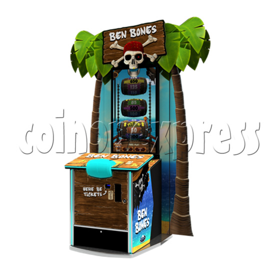 Ben Bones 43 inch Ticket Redemption Arcade Machine - angle view
