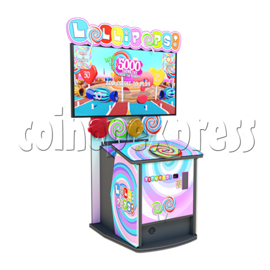Lollipops 55 inch Ticket Redemption Arcade Game Machine - left view