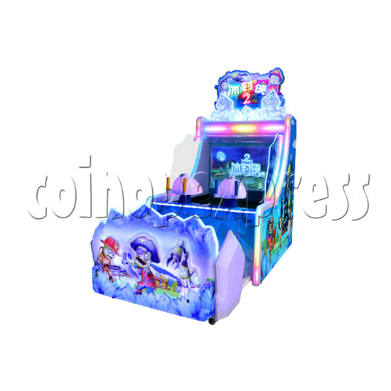 Ice Man II Water Shooter Ticket Redemption Arcade Machine - angle view