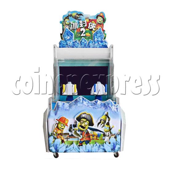 Ice Man II Water Shooter Ticket Redemption Arcade Machine - front view