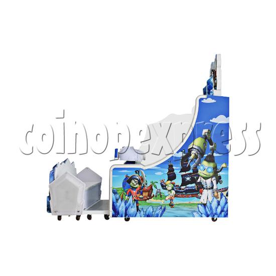 Ice Man II Water Shooter Ticket Redemption Arcade Machine - right view