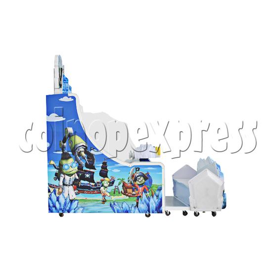 Ice Man II Water Shooter Ticket Redemption Arcade Machine - left view