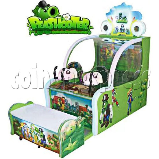 Pea Shooter Ball Shooting Ticket Redemption Arcade Machine - right view