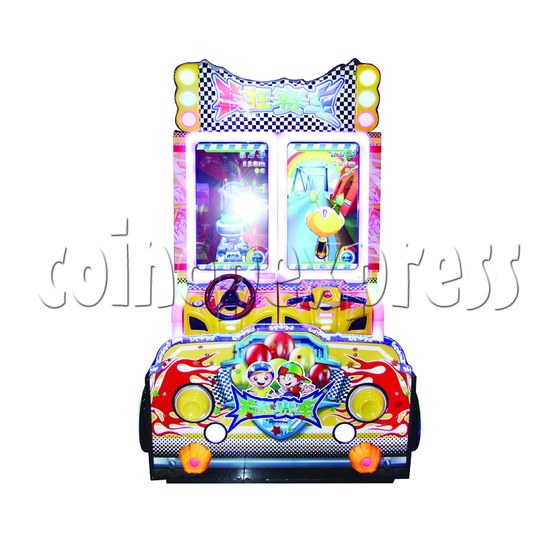 Crazy Racing Video Driving Game 2 Players - front view