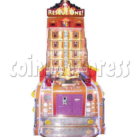 Rescue One Water Shooter Ticket Redemption Arcade Machine - front view