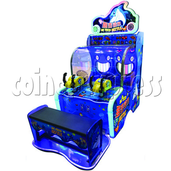 Big Teeth Battle shooting game Arcade Machine - right view