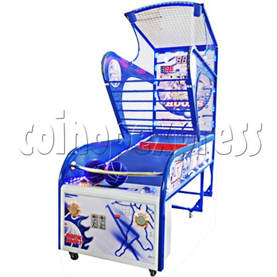 Shooting Hoops 5 Basketball Machine - angle view