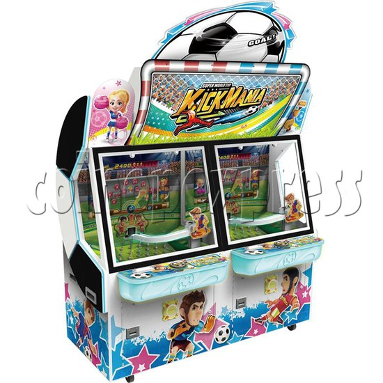 Kick Mania Soccer Game Ticket Redemption Arcade Machine - angle view