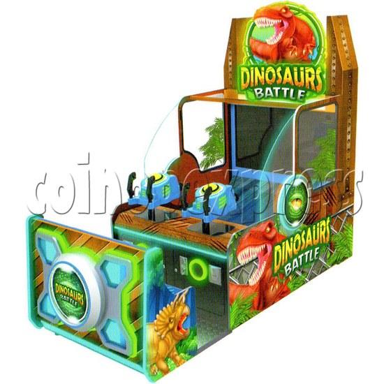 Dinosaurs Battle Water Shooting Ticket Redemption Arcade Machine - design sketch