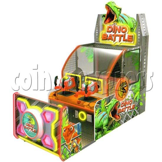 Dino Battle 2 Ball Shooting Ticket Redemption Arcade Machine - design sketch