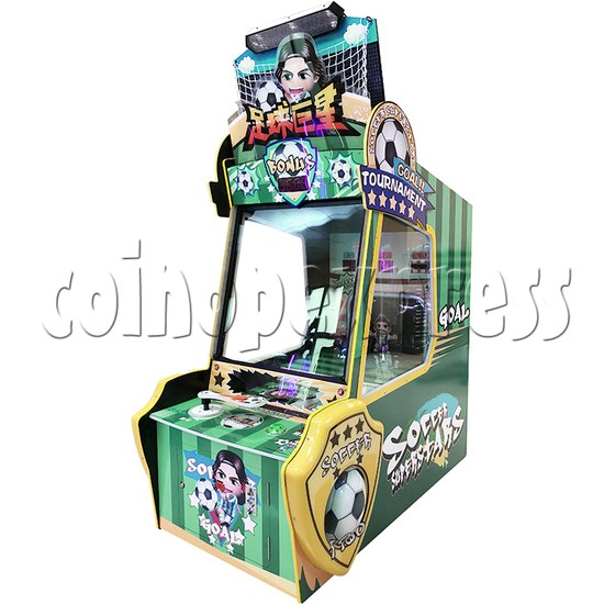 Soccer Super Star Ticket Redemption Arcade Machine - angle view