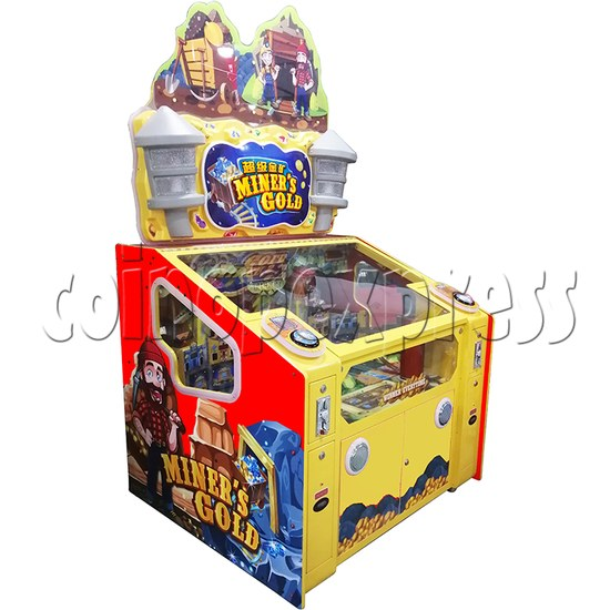 Miner's Gold Ticket Redemption Arcade Machine - left view