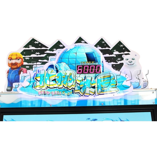 Snow Ball Drop Ticket Redemption Game Machine 4 Players - header