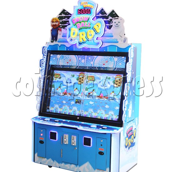 Snow Ball Drop Ticket Redemption Game Machine 2 Players - right view