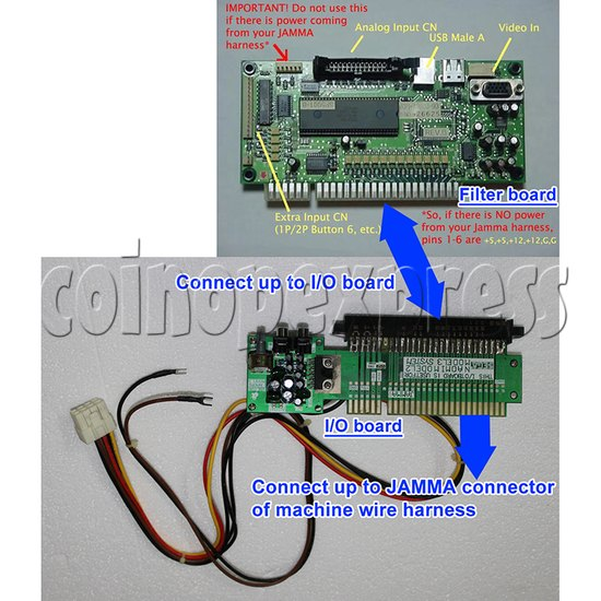 3.3V Power Supply Kit for NAOMI Game System Board - connection