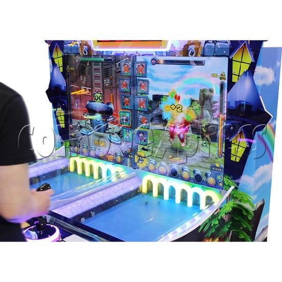 Coin War Ticket Redemption Arcade Machine 2 Players playfield