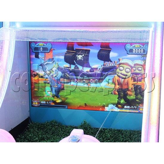 Ice Man II Water Shooter Ticket Redemption Arcade Machine - screen display