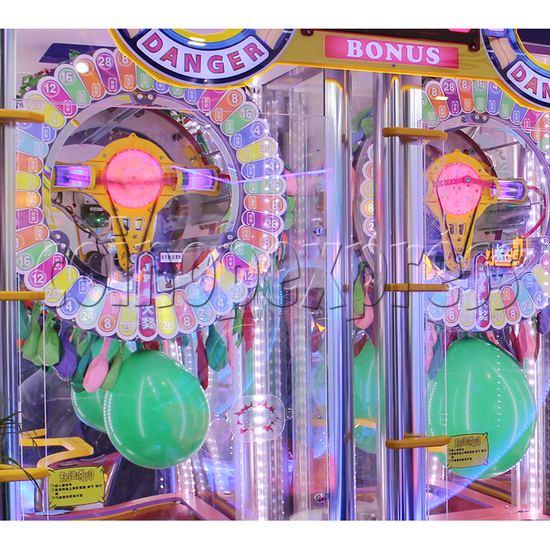 Explosive Balloon Pop Ticket Redemption Arcade Machine 2 Players - playfield