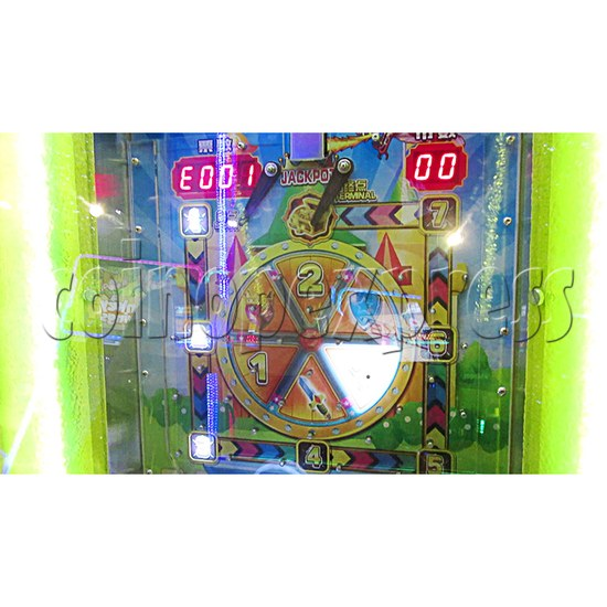 Fantasy Castle Coin Pusher Ticket Redemption Arcade Machine - marquee LED