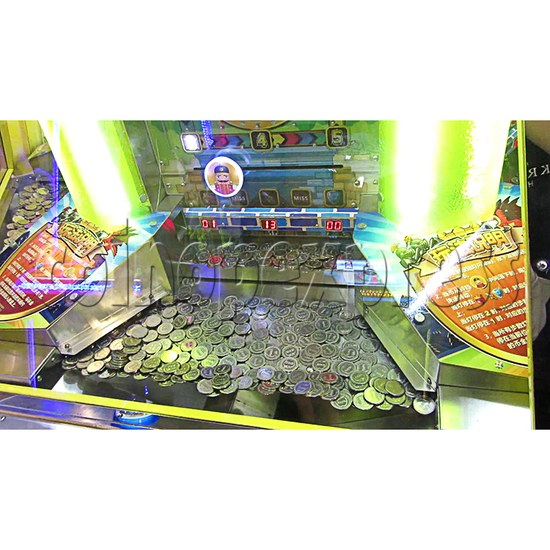 Fantasy Castle Coin Pusher Ticket Redemption Arcade Machine - push plate