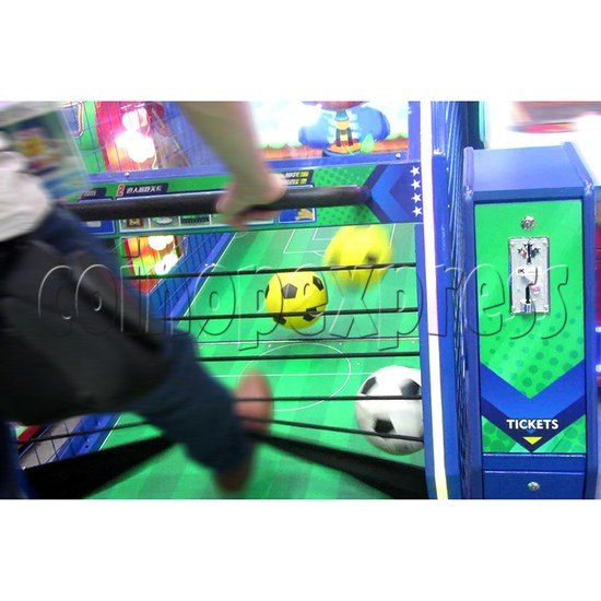 Soccer Party Football Shooting Redemption Machine - play view