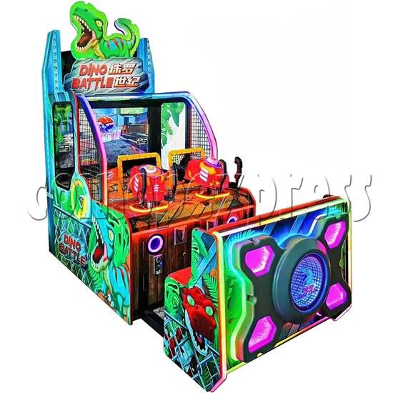 Dino Battle 2 Ball Shooter Ticket Redemption Arcade Machine - left view