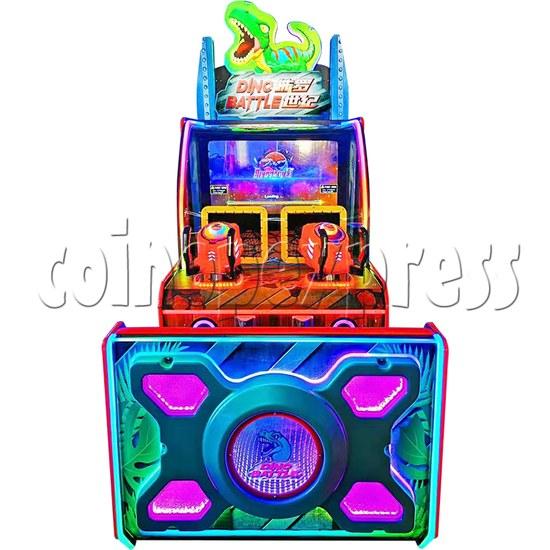 Dino Battle 2 Ball Shooter Ticket Redemption Arcade Machine - front view
