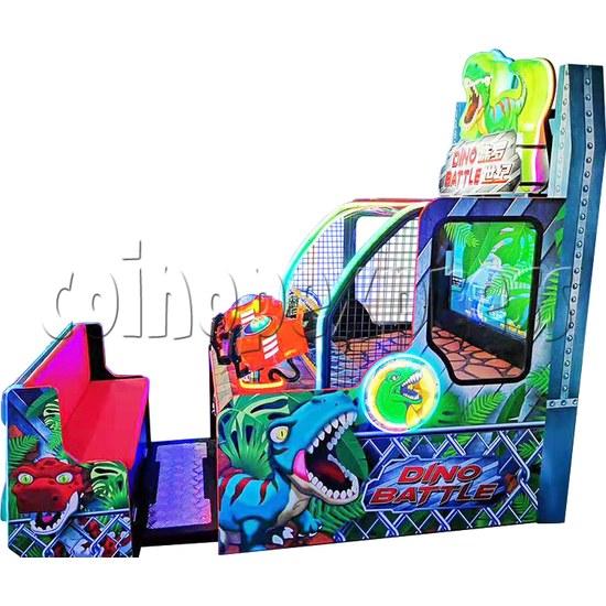 Dino Battle 2 Ball Shooter Ticket Redemption Arcade Machine - side view