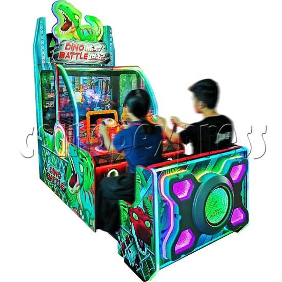Dino Battle 2 Ball Shooter Ticket Redemption Arcade Machine - play view